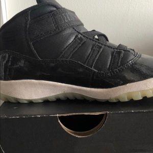 Black patent leather Jordans for kids